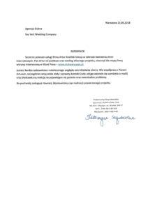referencje Artur Kosiński strony www olsztyn