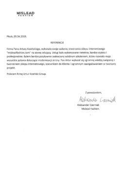 referencje-artur-kosinski-mislead-fashion