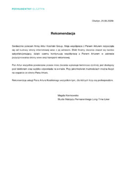 rekomendacja artur kosiński